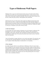 Types of Bathroom Wall Papers