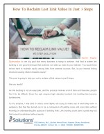 How To Reclaim Lost Link Value In Just 3 Steps