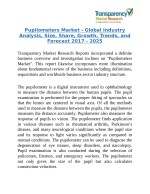 Pupilometers Market - Will Reflect Significant Growth Prospects during 2017-25.