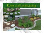 Rocks and landscaping