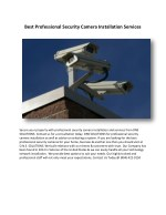Best Professional Security Camera Installation Services