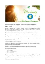 Diabetes Type 2 - Safely Lower Your Blood Sugar by using Moringa