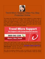 Trend Micro Support Helps You Stay Protected Online