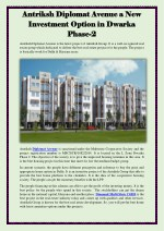Antriksh Diplomat Avenue a New Investment Option in Dwarka Phase-2