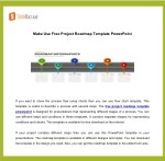 Make Use Free Project Roadmap Template PowerPoint