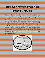 Tips to Get the Best Car Rental Deals