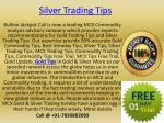100% Accurate Free Expert Tips in Gold Silver on Bullion Jackpot Call