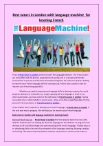 Best tutors in London with language machine for learning French