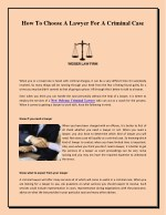 How To Choose A Lawyer For A Criminal Case