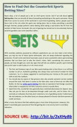How to Find Out the Counterfeit Sports Betting Sites?