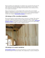 Advantages and disadvantages of fireproof and soundproof insulation