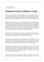 Finding Security in Offshore Funds