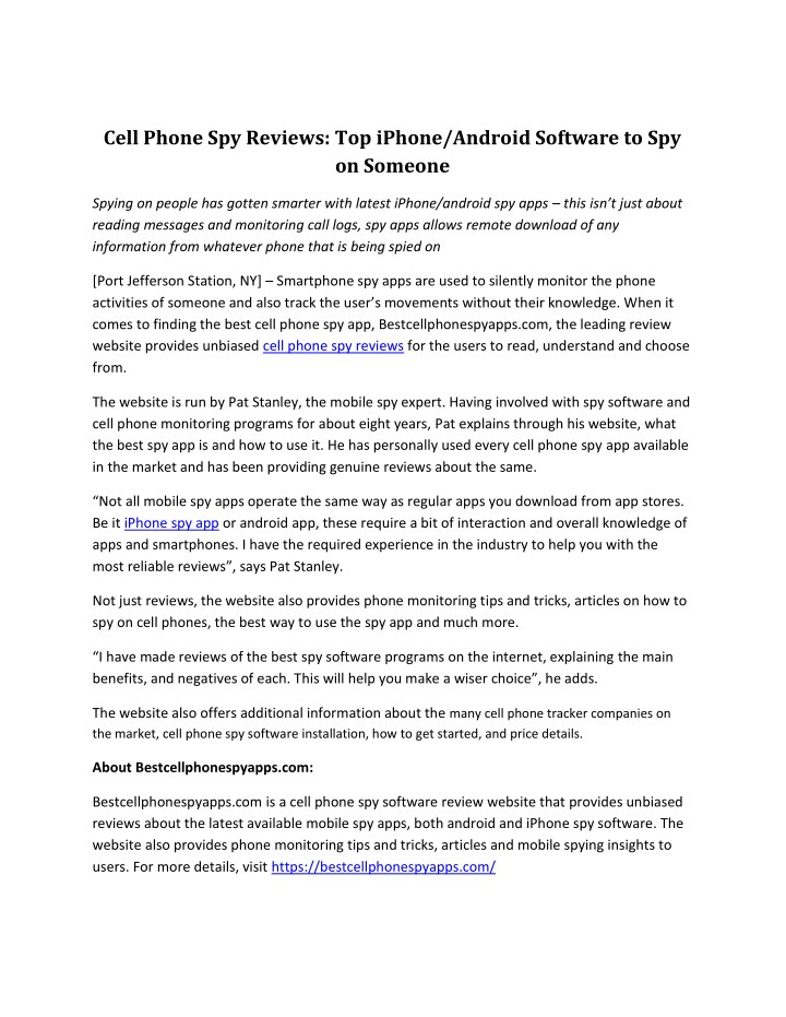 PPT - Cell Phone Spy Reviews: Top iPhone/Android Software to Spy on
