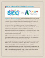 SEO Vs. AdWords for Local Brisbane Companies