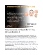 Acne Treatment For Teens - Dotsprocanada