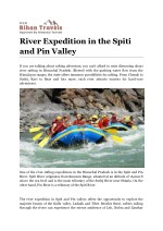 River Expedition in the Spiti and Pin Valley