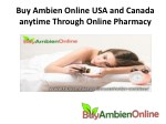 Buy Ambien Online USA and Canada anytime Through Online Pharmacy