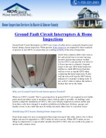 Ground Fault Circuit Interrupters & Home Inspections