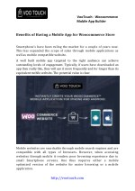 Benefits of Having A Mobile App For Woocommerce Store