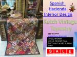 Spanish Hacienda Interior Design Wall Tapestry