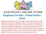 Sunglasses For Kids - A New Fashion Trend