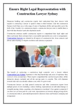 Ensure Right Legal Representation with Construction Lawyer Sydney