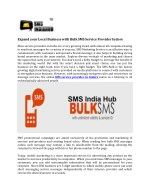 Expand your Local Business with Bulk SMS Service Provider Indore