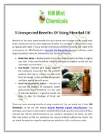 3 Unexpected Benefits Of Using Menthol Oil