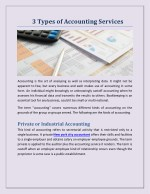 3 Types of Accounting Services