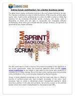 Online Scrum certification- for a better business career