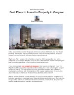Best Place to Invest in Property in Gurgaon