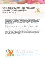 Promote Healthy Vending Options for Schools