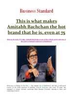 This is what makes Amitabh Bachchan the hot brand that he is, even at 75
