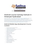 Android app Development training in hyderabad