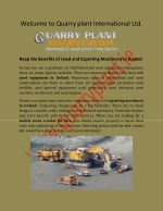 Plant and Machinery Sales Ireland