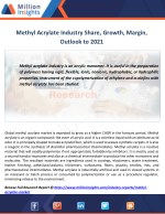 Methyl Acrylate Market by Applications, opportunities,Key Player Forecast 2016-2021