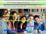 VCT 236 help Making Decisions/uophelp.com