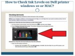 How to Check Ink Levels on Dell printer windows 10 or MAC?