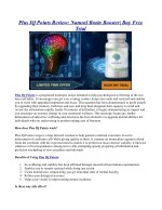 Plus IQ Points Review: Natural Brain Booster| Buy Free Trial