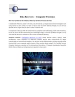 Best Computer Forensics and Data Recovery Private Investigator Texas
