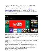 Log In your YouTube.com/activate account on XBOX ONE