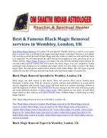 Black Magic Removal services in Wembley, London, UK