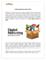 Digital marketing in today's times