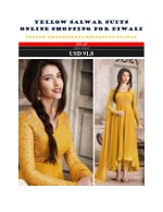Yellow Salwar Suits Online Shopping For Diwali