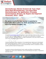 2014 Market Research explores the Brachytherapy Industry Trends & Growth:Radiant Insights, Inc