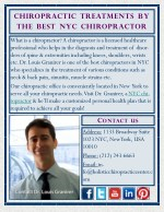 Chiropractic Treatments by the Best NYC Chiropractor