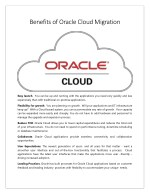 Benefits of Oracle Cloud Migration