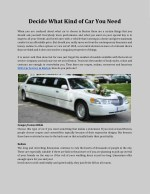 Decide what kind of car you need - SUV Car service in Boston