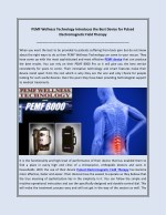 PEMF Wellness Technology Introduces the Best Device for Pulsed Electromagnetic Field Therapy