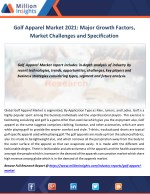 Golf Apparel Market 2021 Major Growth Factors, Market Challenges and Specification